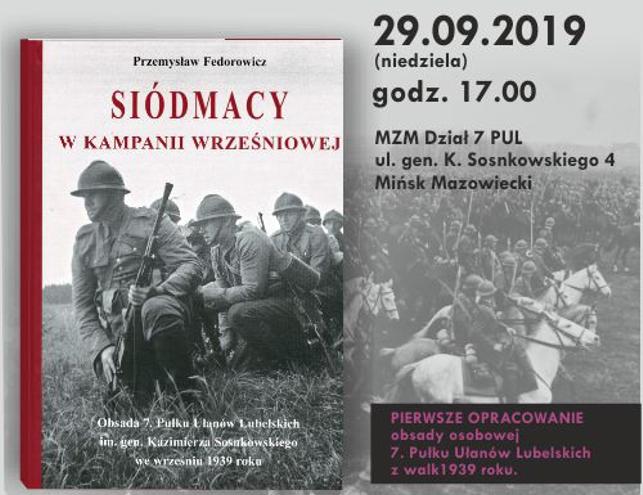 Siódmacy – promocja książki ispotkanie zautorem Przemysławem Fedorowiczem