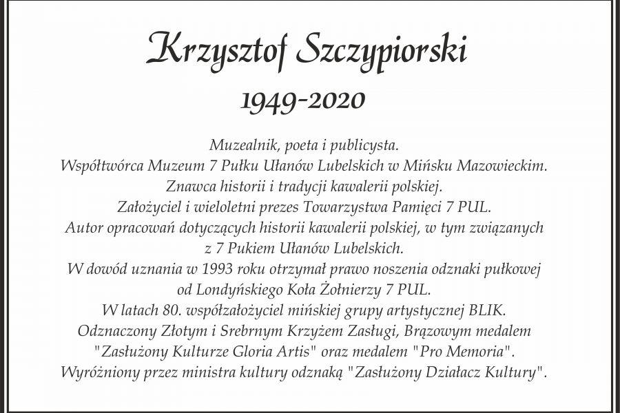 Krzysztof Szczypiorski 1949-2020