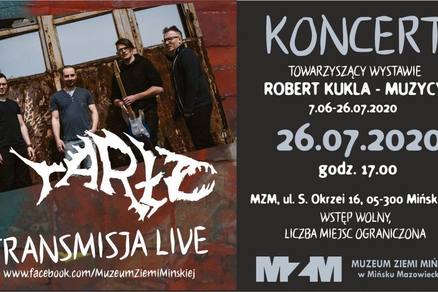 Koncert zespołu TARŁO – finisaż wystawy Roberta Kukli MUZYCY
