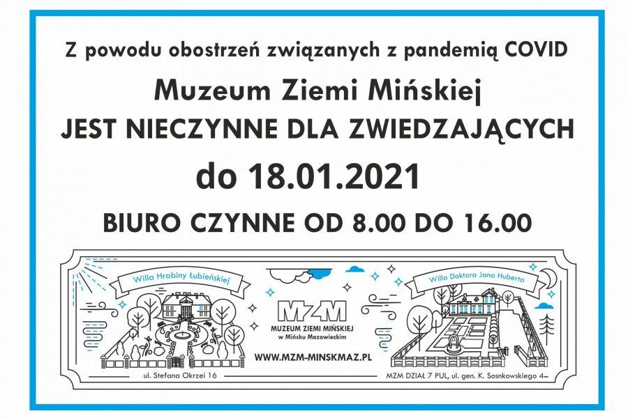 MZM nieczynne do18 stycznia 2021