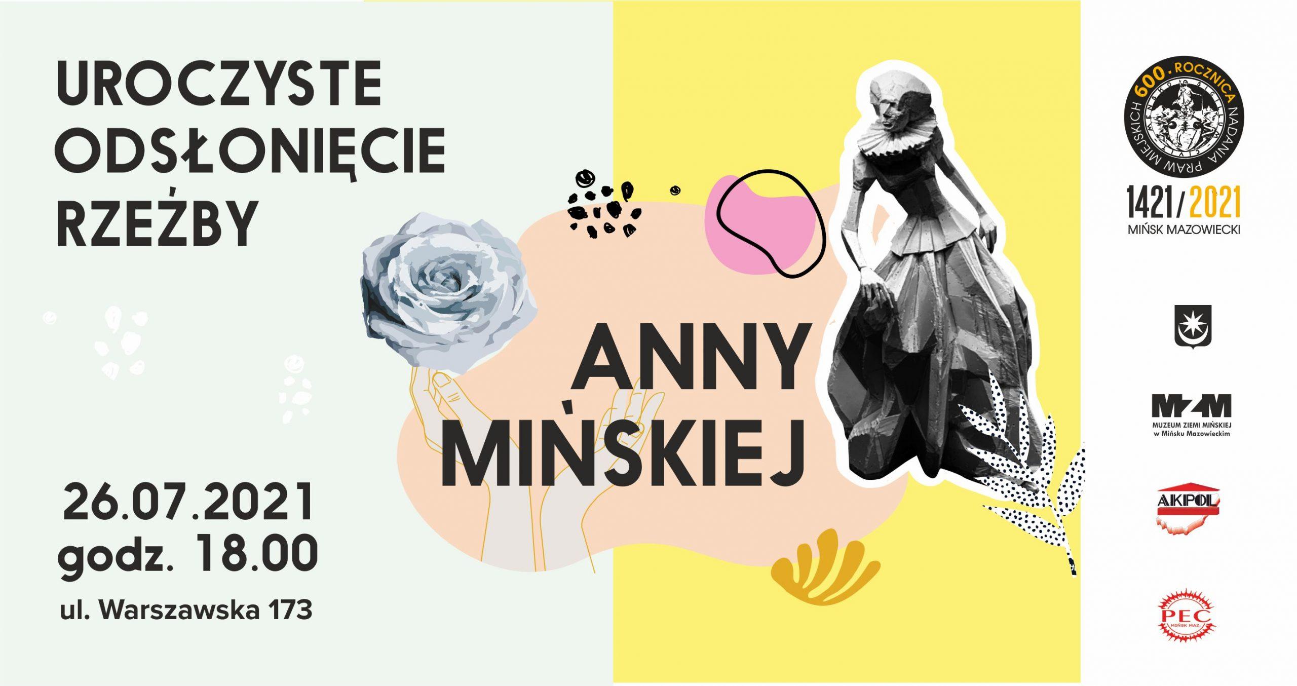 Uroczyste odsłonięcie rzeźby Anny Mińskiej
